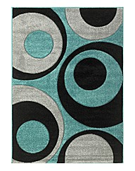 Circles Heatset Carved Rug