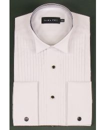 Double Two Wing Collar Dress Shirt