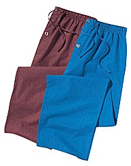 Premier Man Pack of 2 Pyjama Bottoms
