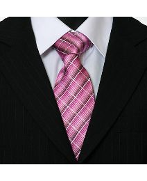 Double Two Woven Check Tie