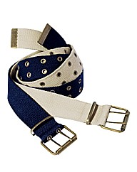 Southbay Pack of 2 Canvas Belts