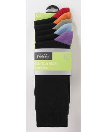 Morley Five Pack Bright Heel & Toe Socks