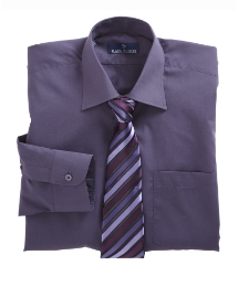 Rael Brook Boxed Plain Shirt and Tie Set