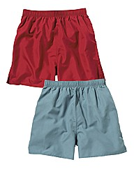 Premier Man Pack of 2 Plain Swimshorts