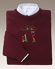 Embroidered Golfer Sweater
