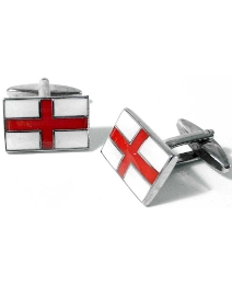 Pair of St George Flag Cufflinks