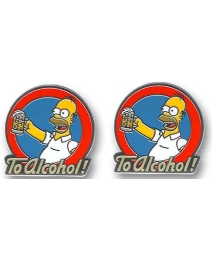Simpsons To Alcohol Cufflinks