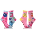 Girls Numberjacks Pack of 2 Socks