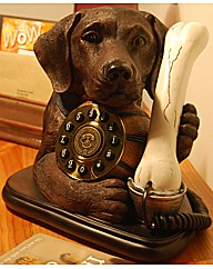 Labrador Dog Phone Brown