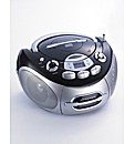 Portable CD Radio Cassette -Black/Silver