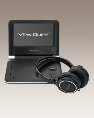 Portable DVD Player + Headphones Black