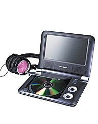 Portable DVD Player + Headphones Pink