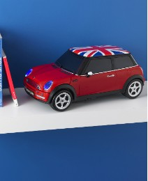 Mini Cooper CD Radio - Red Union Jack