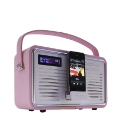 Retro DAB Radio with iPod Dock - Pink