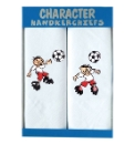 Pack of 2 Footballer Embroidered Hankies