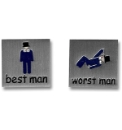 Pair of Best Man/Worst Man Cufflinks