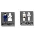 Pair of Wedding Day/Night Cufflinks