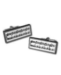 Pair of Music Score Cufflinks