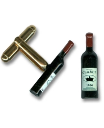 Pair of Wine Bottle Cufflinks
