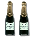 Pair of Champagne Bottle Cufflinks
