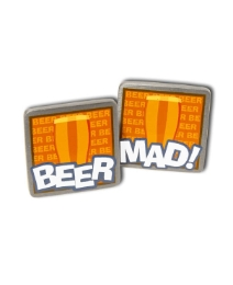 Pair of Beer Mad Cufflinks