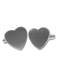 Pair of Silver Hearts cufflinks