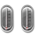 Pair of Thermometer Cufflinks