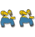 Pair of Homer Kiss My Butt Cufflinks
