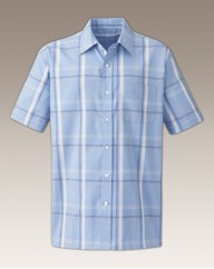 Premier ManShort Sleeve Check Shirt Long