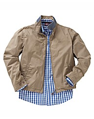 &Brand Tall Cotton Harrington Jacket