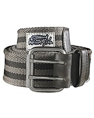 Weird Fish Striped Webbing Belt