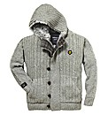 Hamnett Mighty Fur Trim Hooded Cardigan