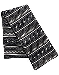 Kayak Long Length Fairisle Knitted Scarf