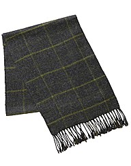 & Brand Long Length Checked Scarf