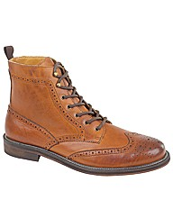 Jimmy Bee Waxy Leather Brogue Boots