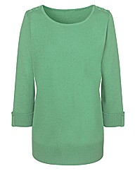 Fully Fashioned 3/4 Sleeve Jumper