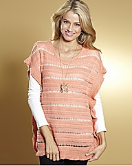 Pointelle Poncho Jumper