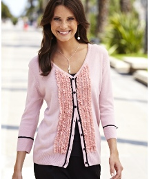 Bow and Frill Cardigan