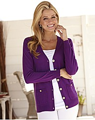Fully Fashioned V-Neck Cardigan