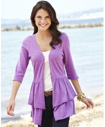 Frill Waterfall Cardigan