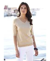 V-Neck Short Sleeved Jumper