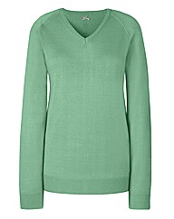 Fully Fashioned V-Neck Jumper