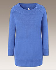 Fully Fashioned Rib Neck Jumper