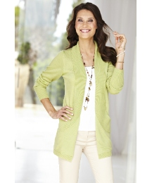 Scoop Pocket Longline Shrug Cardigan