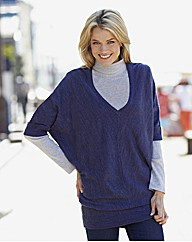 Knitted Deep V Tunic