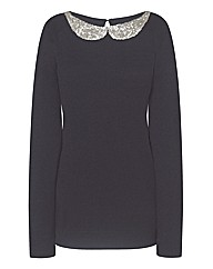 Embellished Collar Jumper