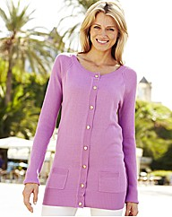Fully Fashioned Round Neck Cardigan
