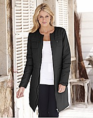 Collarless Longline Jacket