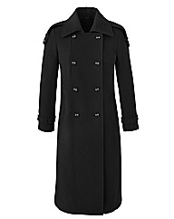 Trench Style Coat Length 44in