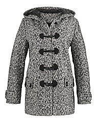 Petite Tweed Duffle Coat Length 36in